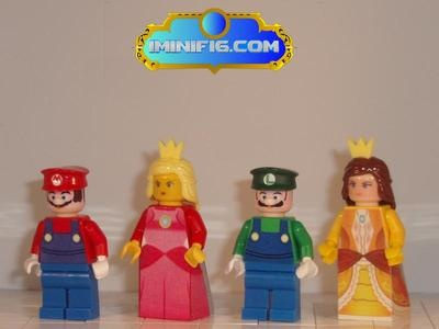 Best of two worlds...Custom LEGO Super Mario Luigi Pricess Peach and Princess Daisy