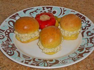 Chef JD's Food and Recipe Blog: Mini Tarragon Roll Herbes de Provence Egg Salad Sa...