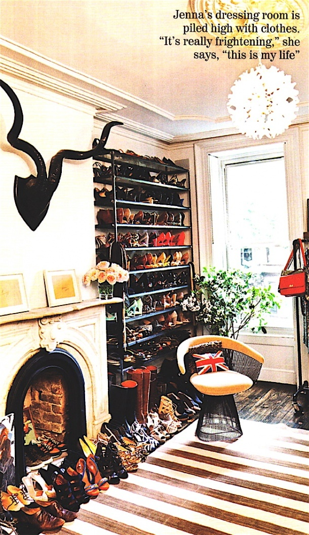 jenna lyons closet...wow....shoe rack...