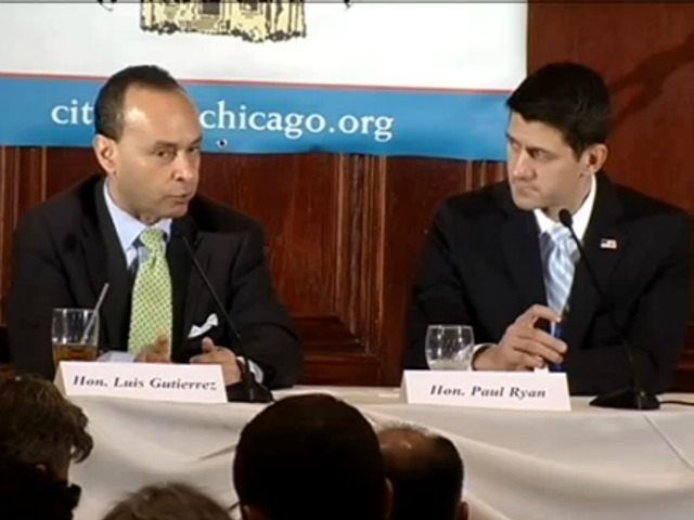 "Second Video Revealed– Paul Ryan With Luis Gutierrez: America 'Is More Than Our Borders' | 10.19.15 |""Breitbart News has unearthed another overlooked 2013 video that documents Paul Ryan & Luis Gutierrez stumping for an immigration-expansion plan. Ryan made the case for dissolving borders—declaring unabashedly that the United States ""is more than [its] borders."""""