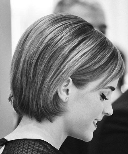 Emma Watson Short Bob Hairstyle http://loveemmawatson.wordpress.com/2012/02/13/launches-rouge-in-love-at-selfridges/