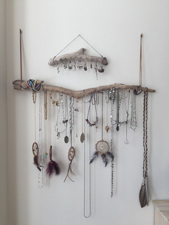 Set of 2 Driftwood Jewelry Organizer Necklace by Curiographer