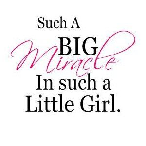 Amazon.com: Such a big miracle for such a little girl(pink) vinyl decal wall saying: Home & Kitchen