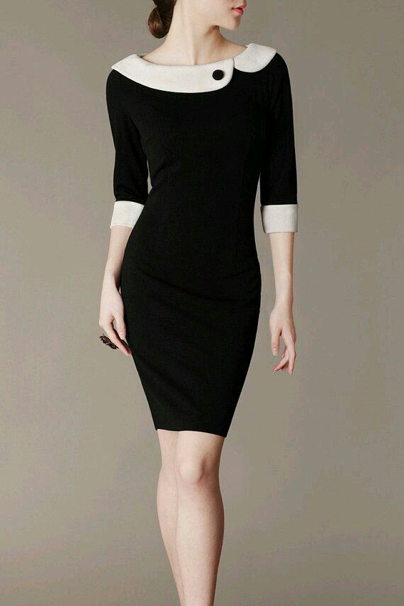 Very Valentino little black dress with white assymetrical collar and cuffs! Enjoy RUSHWORLD boards, UNPREDICTABLE WOMEN HAUTE COUTURE, WEDDING GOWN HOUND and EYE CANDY ARCHITECTURAL MASTERPIECES. Follow! We're on the hunt for everything you'll love! #HauteCouture #WhatToWear #TrendingFashion