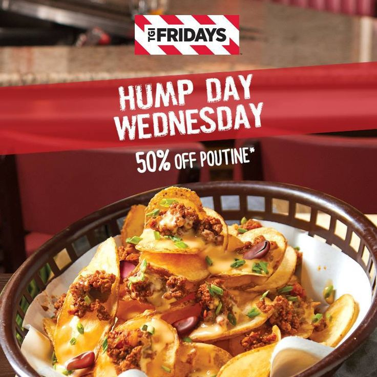 Hump Day Wednesdays Promo: 50% Off on Poutine (Potato Crisps) @ TGI Fridays #DealsPinoy