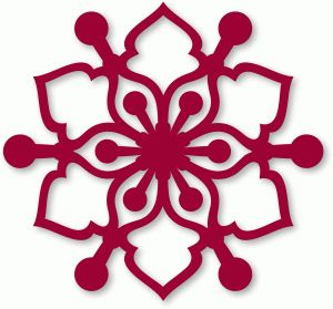 Silhouette Online Store: snowflake