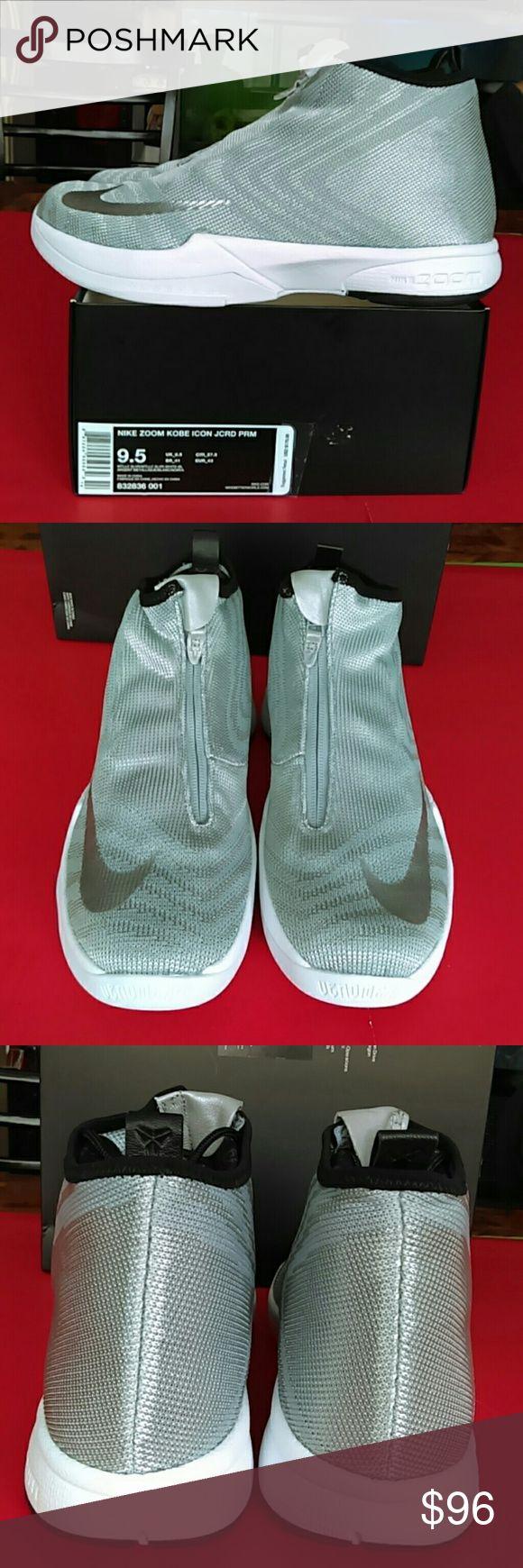 BRAND New NIKE KOBE  Men. Sneaker NIKE Zoom KOBE ICON JC RD PRM Metallic /Silver/White/Black Unisex. Men. 9.5. Women 11 Shoes Sneakers