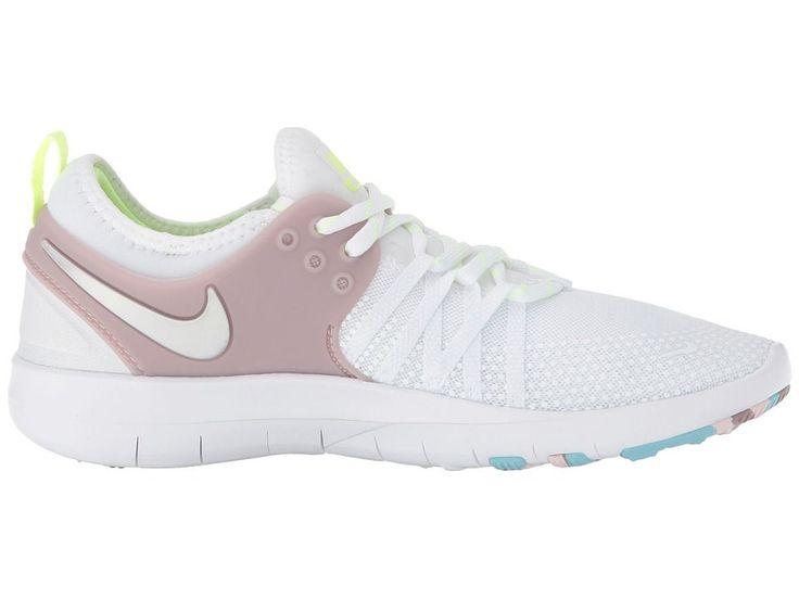 Nike Free TR 7 Women's Cross Training Shoes White/Metallic Silver/Elemental  Rose