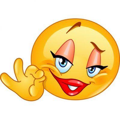 emoticon de enamorado coqueta