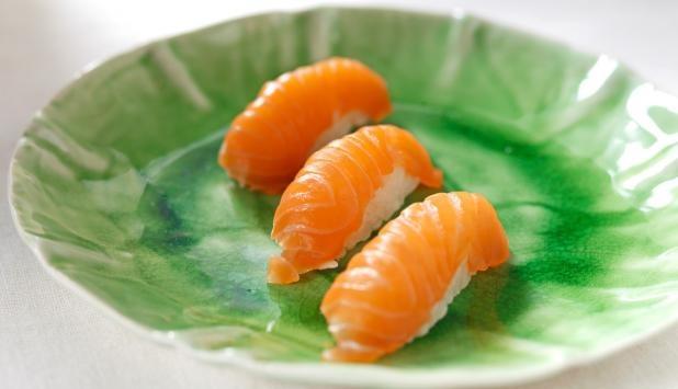 Sushi med laks <3