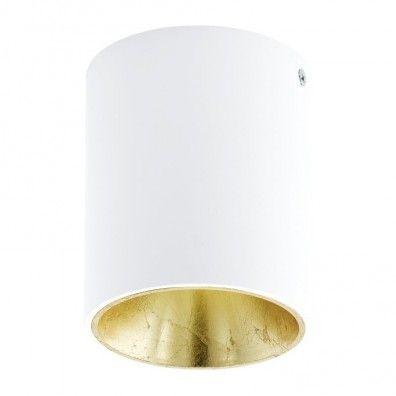 EGLO POLASSO LED Aufbauleuchte, rund, 100mm, weiss, gold