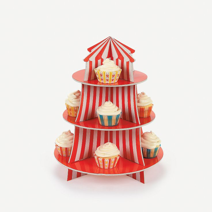 Carnival/Circus Birthday Party: Big Top Cupcake Holder