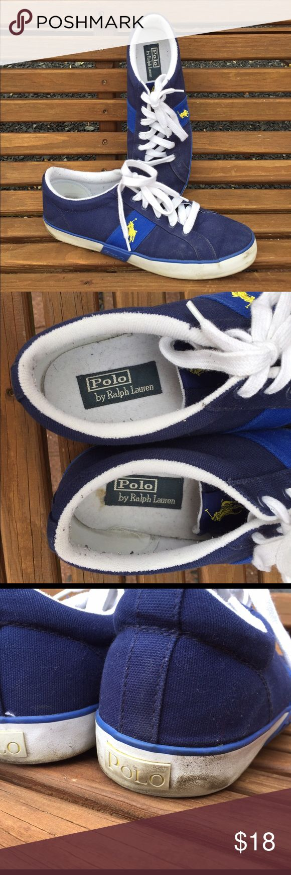 Polo by Ralph Lauren Mens Boat Shoes Size 12 D Size 12 D. Do show some signs of wear (see pictures for details) Still have Wear left in them. Polo by Ralph Lauren Shoes Boat Shoes