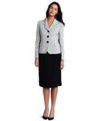 Lesuit Womens Jacquard Skirt Suit