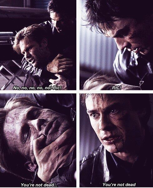 Awh... This was such a sad moment when he realized that if Alaric was dead it meant Elena was dead, too. :'(