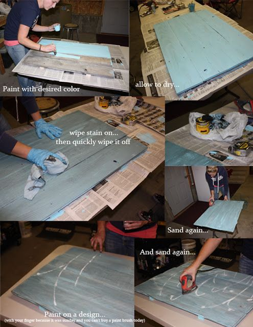 how to paint old wood fence boards