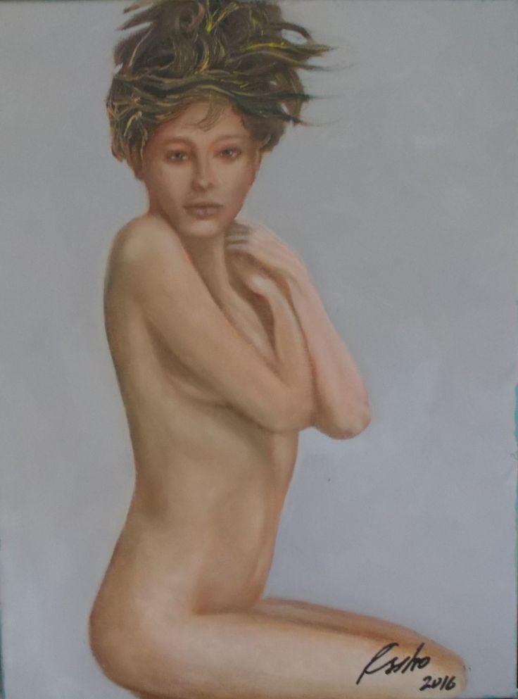 30x40 Óleo sobre tela de 30x40 de la Serie de Desnudos