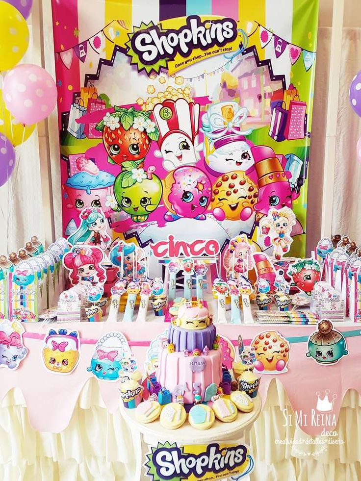154 best Shopkins Party Ideas images on Pinterest Birthday party