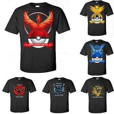 Pokemon Go Mens Round Neck T-shirt