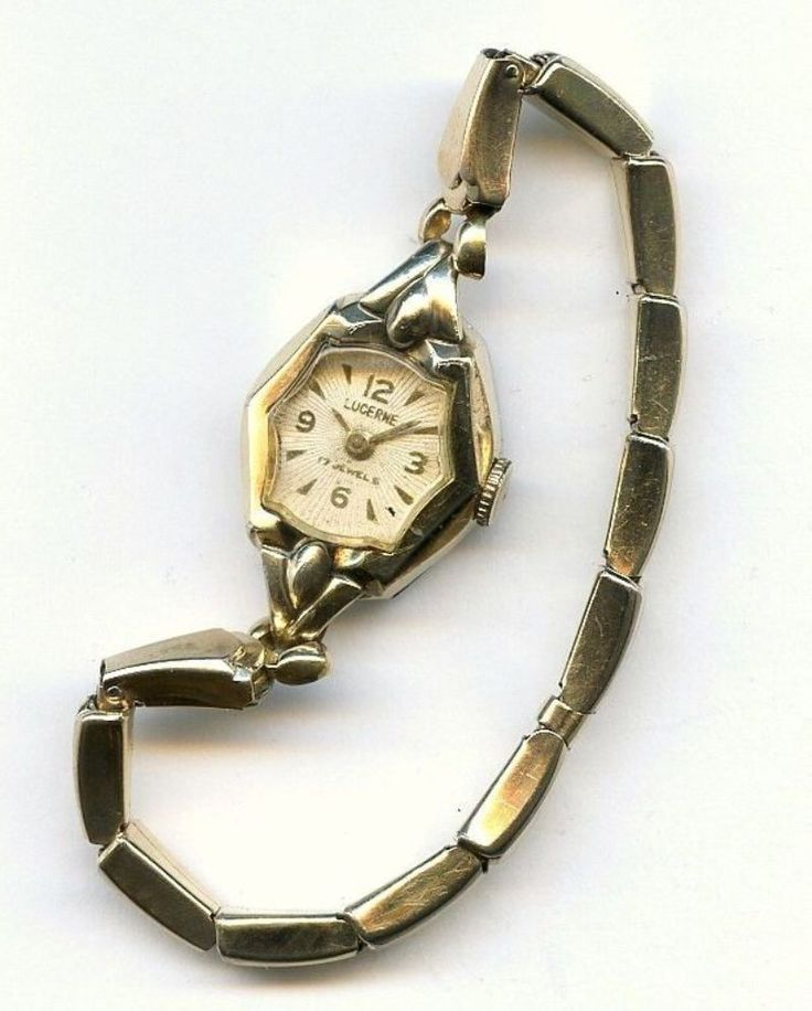 Vtg Lucerne 17J Swiss Accro Bond LXM 10k RGP Gold Tone Ladies Windup Watch - TLC #LucerneAccroBondWatchCo #Casual