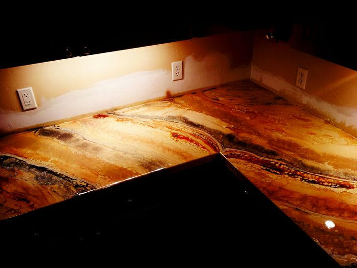 Diy Counter Top Epoxy Countertop Epoxy Pinterest