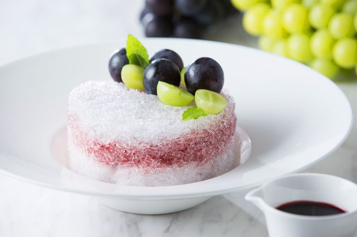 Grape shaved ice