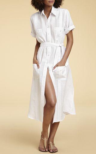 Guayabera Long Shirt Dress by MIGUELINA for Preorder on Moda Operandi