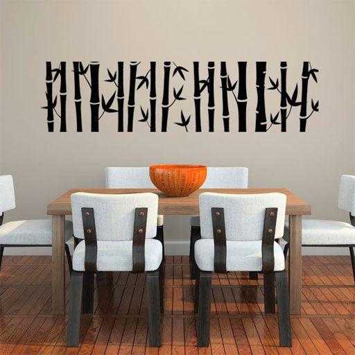 elegante vinilo decorativo en forma de banda de bamb ya puedes pegar en tu pared