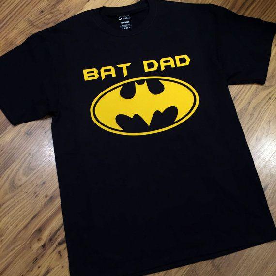 Bat Dad T Shirt BatDad Tee Super Hero Father Daddy By