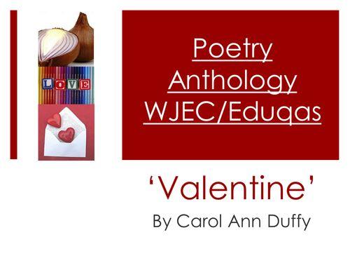 Mini Poetry Scheme: 'Valentine' by Carol Ann Duffy - WJEC/Eduqas