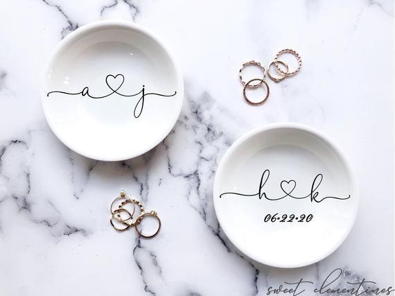 Engagement Gifts Ring Dish Wedding Gift Wedding Ring Dish Personalized Jewelry Dish Engagement Ring Holder Bridesmaids Gift