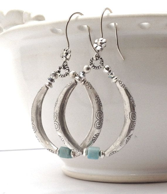 Large Silver Hoop Earrings 4323b9e00