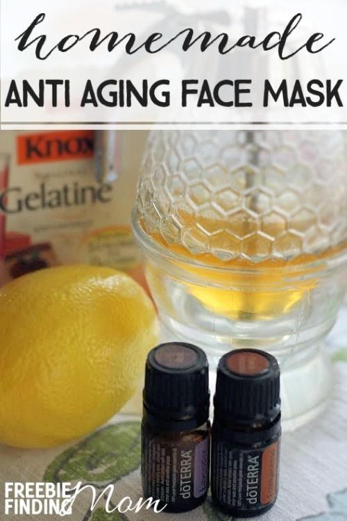 Home made anti aging face mask with essential oils