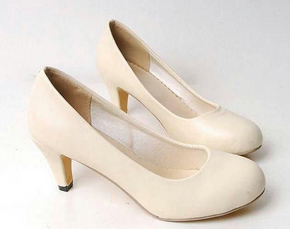 zapatos de novia tacon bajo charolados