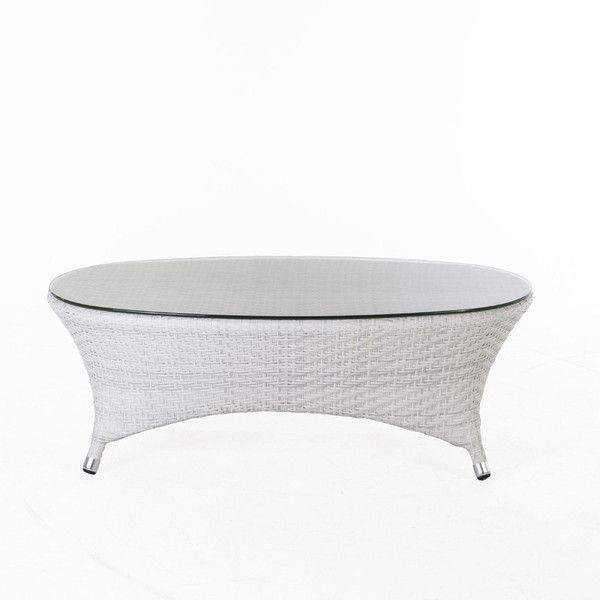 Danica Outdoor Coffee Table W/Clear Glass Top design by BD MOD ($785) ❤ liked on Polyvore featuring home, outdoors, patio furniture, outdoor tables, coffee tables, outdoor patio furniture, modern outdoor coffee table, outdoor table, modern white coffee table and white patio table