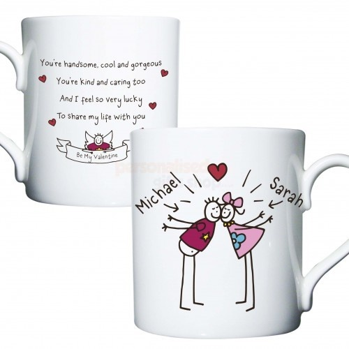 Personalised Purple Ronnie Kissing Couple Mug  from Personalised Gifts Shop - ONLY £12.95