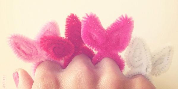 DIY bunny rings