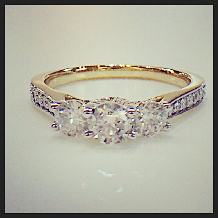 Classic 3 stone diamond ring