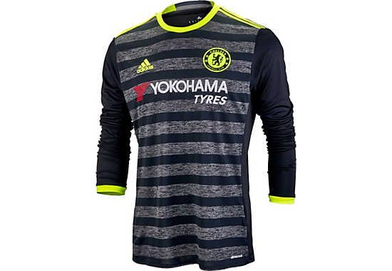 2016/17 adidas Chelsea Away L/S Jersey Shop for it now at www.soccerpro.com