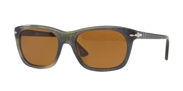 Persol per uomo po3101s (CLASSIC)  - 101733 (STRIPPED GREY HAVANA\/brown), Occhiali da Sole Calibro 57
