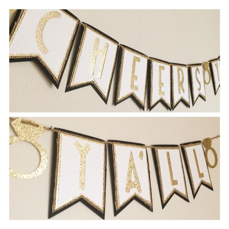 Cheers Yall Bachelorette Banner; Burlap Banner ; Country Bachelorette Party; Glitz and Glam Banner by LetsGetDecorative on Etsy https://www.etsy.com/listing/261652757/cheers-yall-bachelorette-banner-burlap