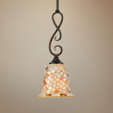 "Monterey Mosaic Malaga Finish 6"" Wide Pendant Light | LampsPlus.com"