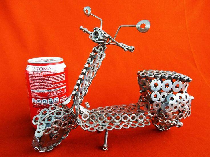 Metallo - Vespa in acciaio inox misure lunghezza 25cm altez - un prodotto unico di stevieacciaio su DaWanda