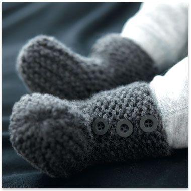 Free pattern - Modèle gratuit chaussons layette