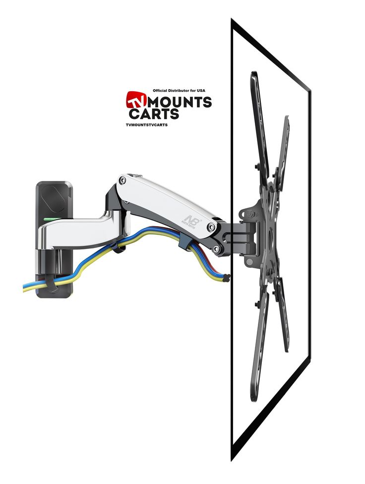 universal full motion articulating tv wall mount f450 with