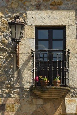 Balcone nella Spagna settentrionale Escalante, Cantabria