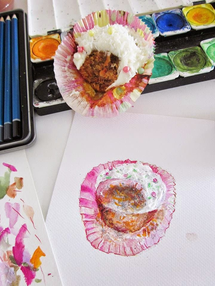 Carrot Muffins: From the oven to the sketch pad http://finlandhandcrafters.blogspot.fi/2014/04/carrot-muffins-from-oven-to-sketch-pad.html?spref=fb