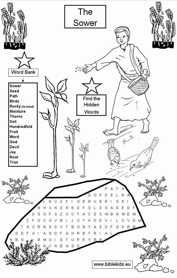 Parable Of The Sower Coloring Page Best Of Jesus Parable Of The