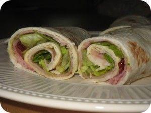 Recetas Para Adelgazar : (Recetas de Wrap) Wrap de Jamon y Queso Crema.