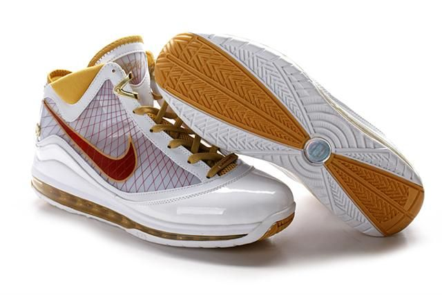 http://www.airfoamposite.com/nike-lebron-7-white-gold-red-p-305.html NIKE LEBRON 7 WHITE GOLD RED Only $85.99 , Free Shipping!
